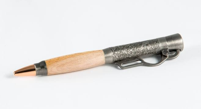 $60 Lever Action in antique pewter and Maple wood