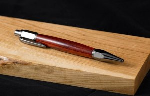 Vertex pen in gun metal finish with Padauk wood